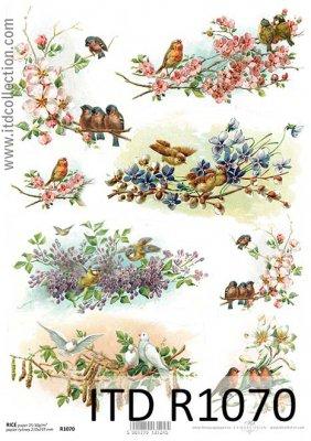 papier-ryzowy-decoupage-ptaki-wiosna