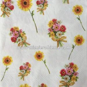 serwetka kwiatowe bukieciki