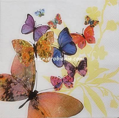 serwetka do decoupage kolorowe motyle