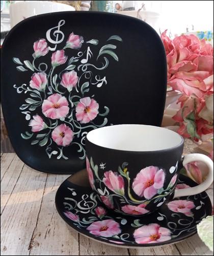 filiżanka ręcznie malowana